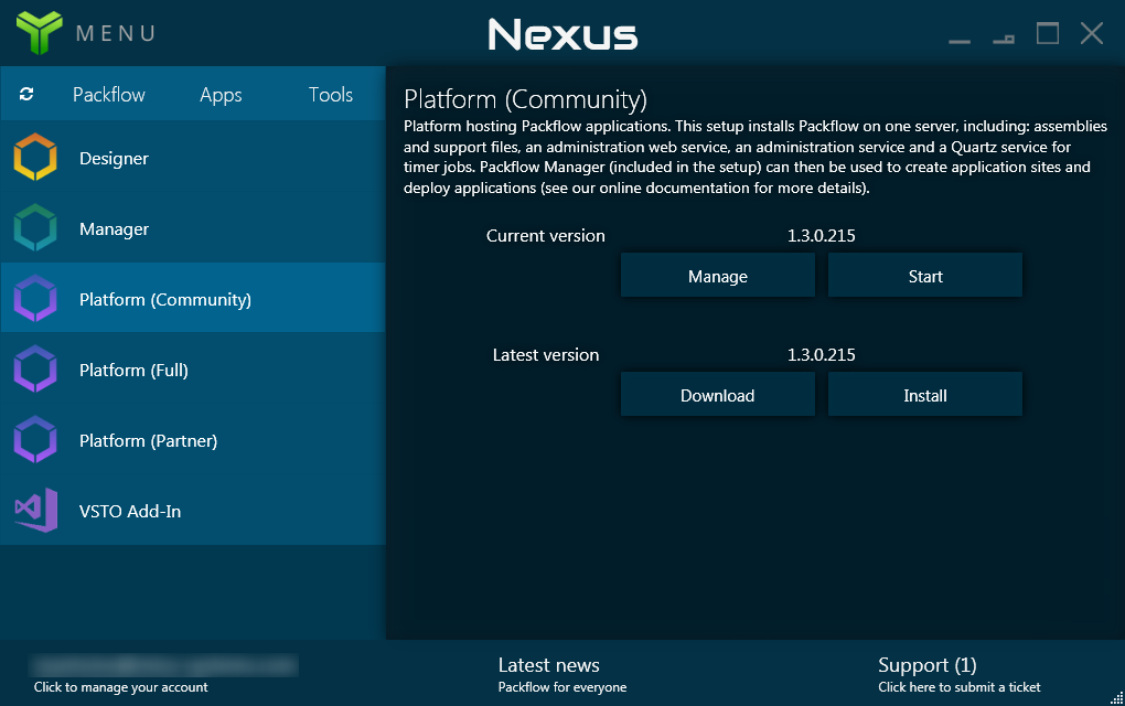 Nexus screenshot